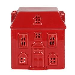 Brûleur d'encens maison rouge