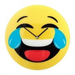 Horloge smiley mort de rire