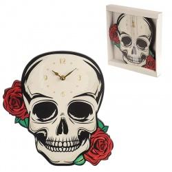 Horloge gothique skull and roses