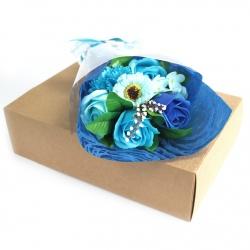 Bouquet de savon bleu