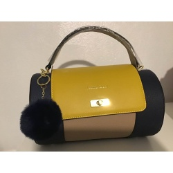 sac cylindré jaune marine beige Jacques Esterel