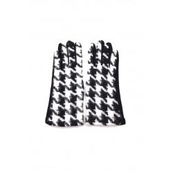 Gants tactiles femme noir et blanc