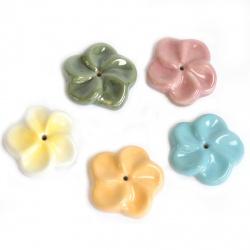porte-encens fleur céramique