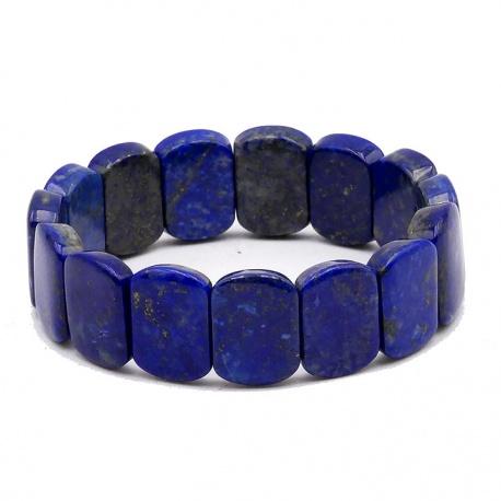 Bracelet de pierres roulées Lapiz Lazuli