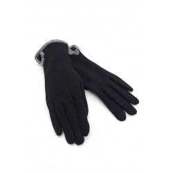 Gants noirs tactiles femme