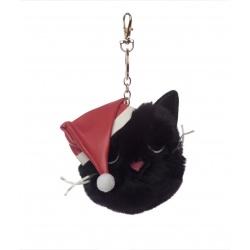 Porte clés chat féline fine Noël