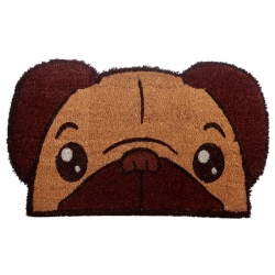 Tapis chien carlin